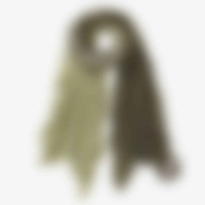 Pur Schoen Hand Felted Cashmere Soft Scarf Ombre Military-Green
