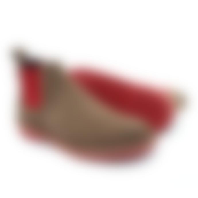 VELDSKOEN Chelsea Unisex Boots Red