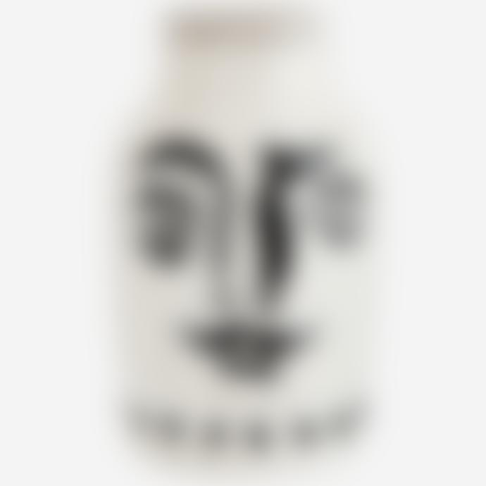 Madam Stoltz Stoneware Vase with Moustache Painted Face