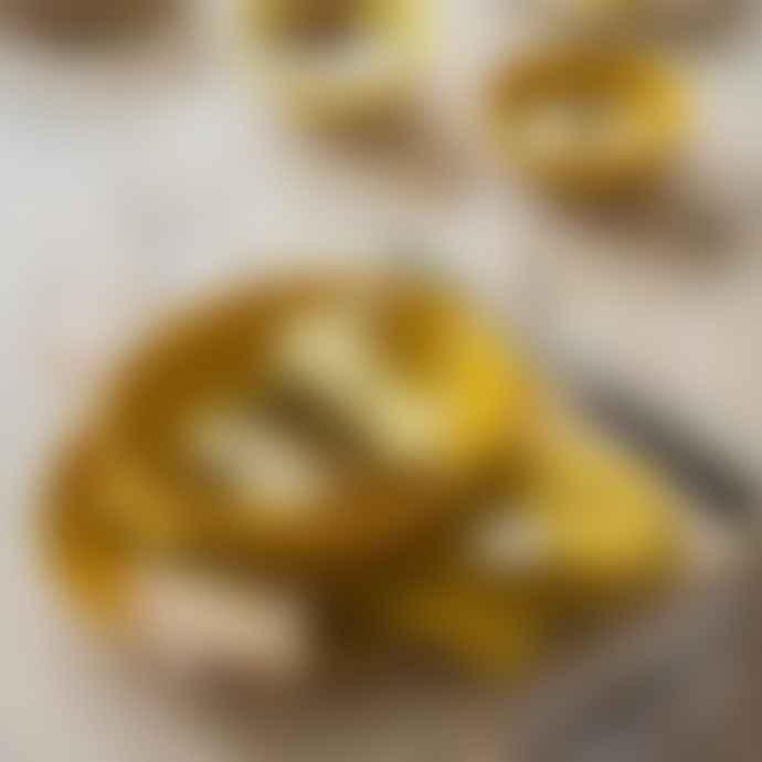 Bungalow DK Set Of 4 Saara Ochre Mustard Yellow Cotton Napkins