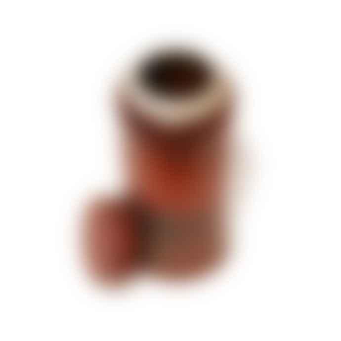 Steve Neville Red Lidded Storage Jar