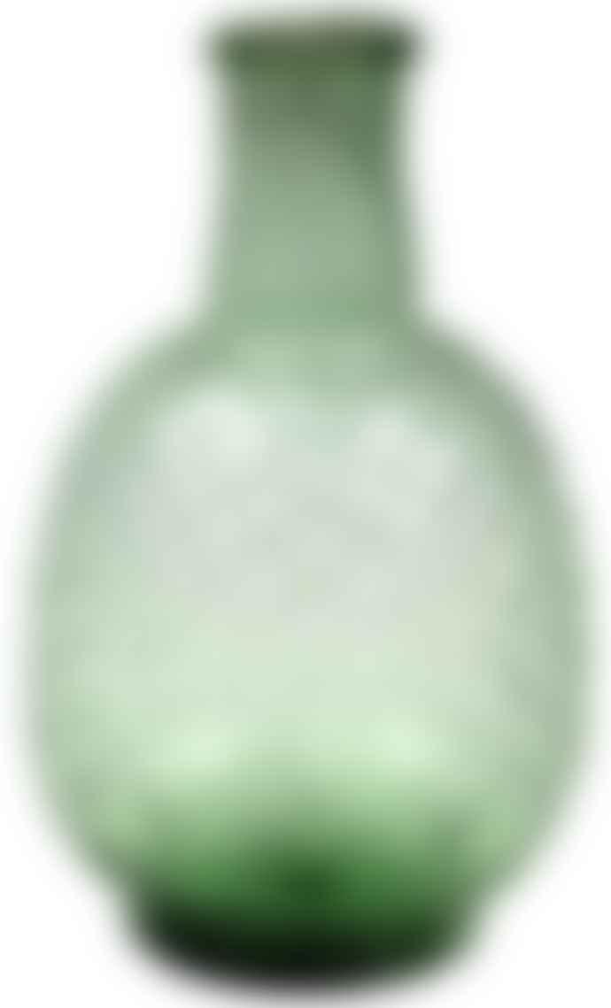 De Weldaad Vase Recycled Glass - Green Pineapple
