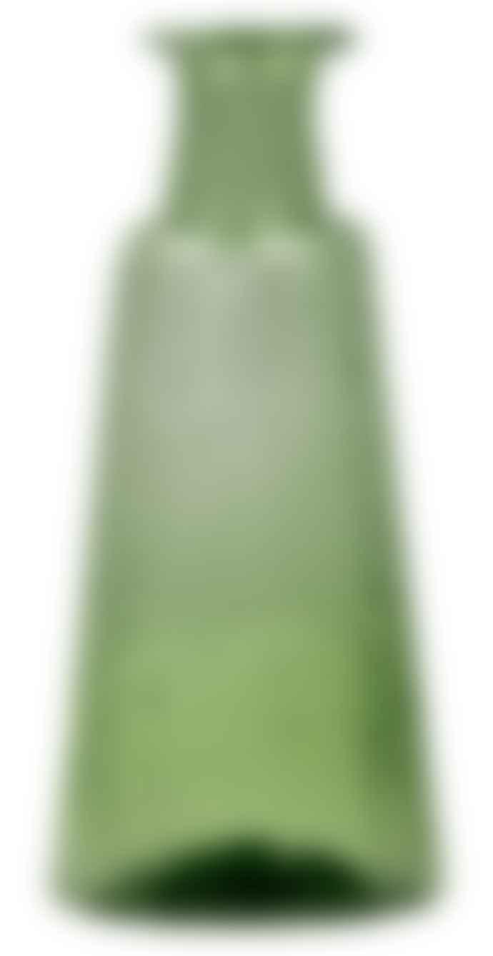 De Weldaad Vase Recycled Glass - Fern