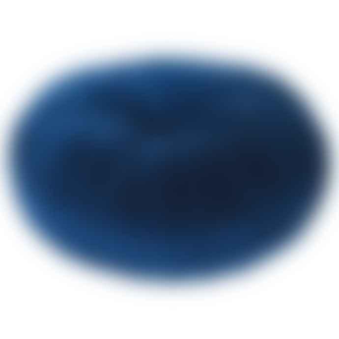 Grace and Grey Blue Velvet Ruffle Cushion