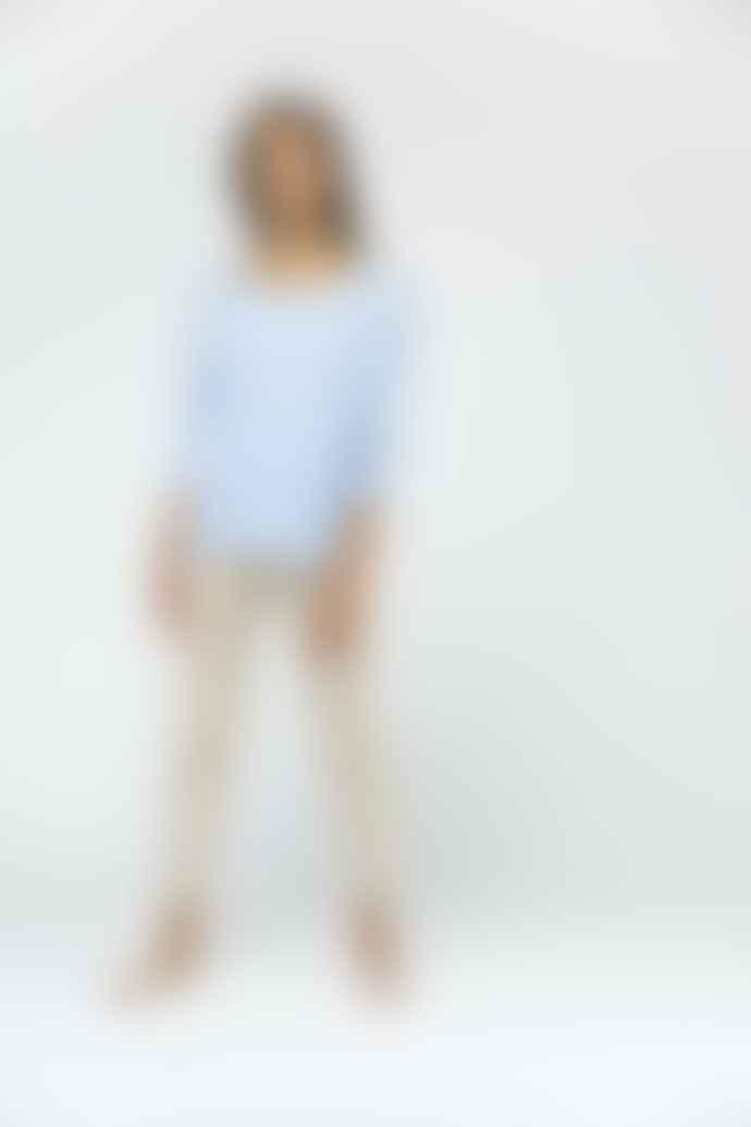 Van Kukil Harmony Blue Chloe Cashmere Sweater