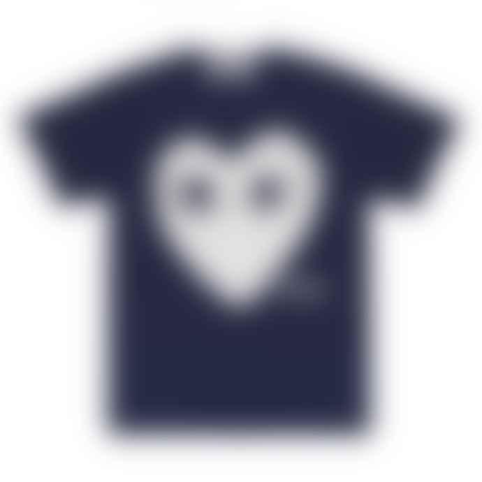 Comme Des Garcons Play Navy T-Shirt (P1T180)