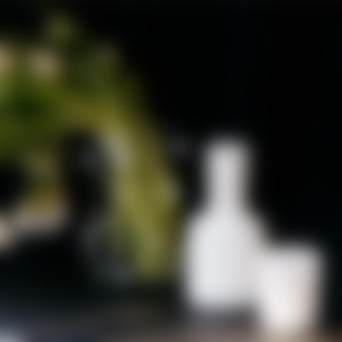 Maison Balzac Opaque White Carafe & Glass Set