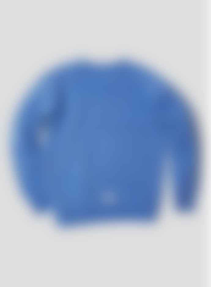Nigel Cabourn Embroidered Arrow Crew Sweat Washed Blue