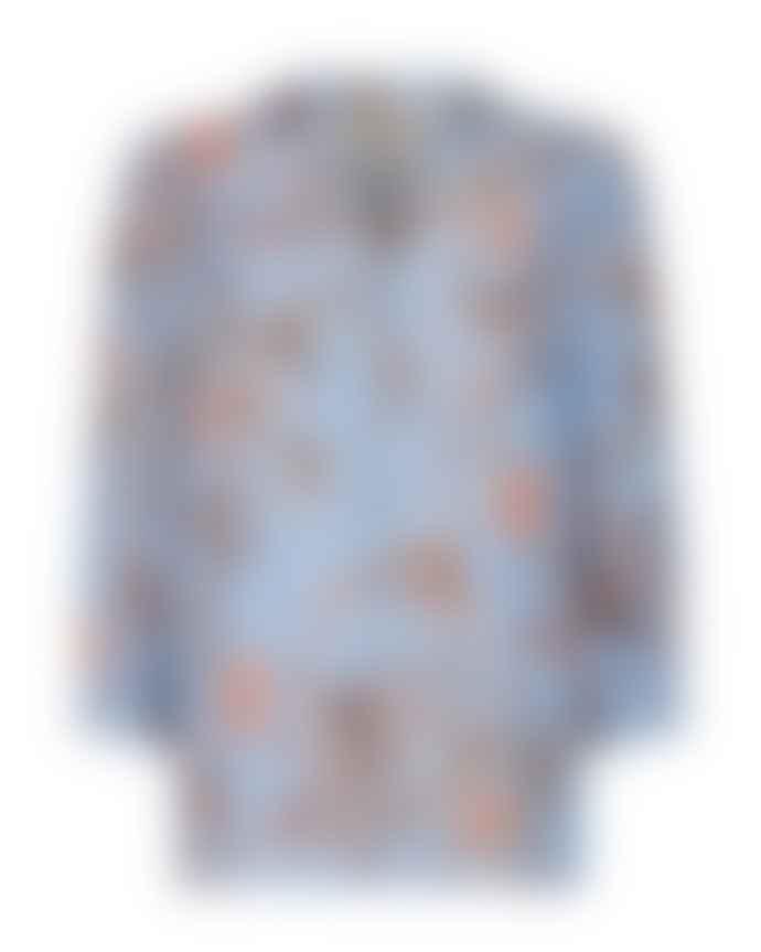 Mos Mosh Bel Air Blue Debby Thistle Shirt