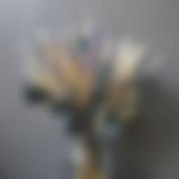 livs Dried Flowers - Wheat Lilac Heather Purple