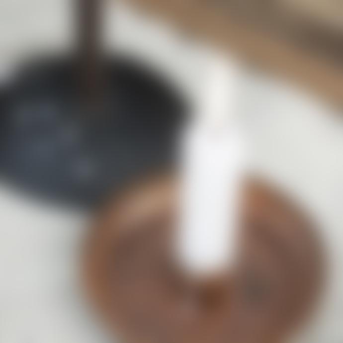 Ib Laursen Bundle of 6 White Short Dinner Candles