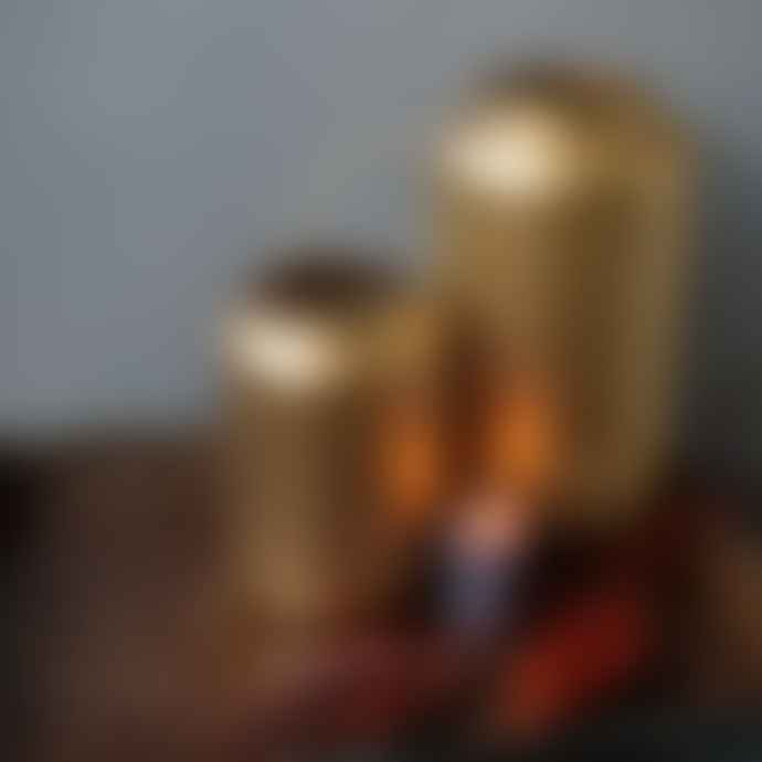 livs Gold Filigree Lantern - Tall 32cm