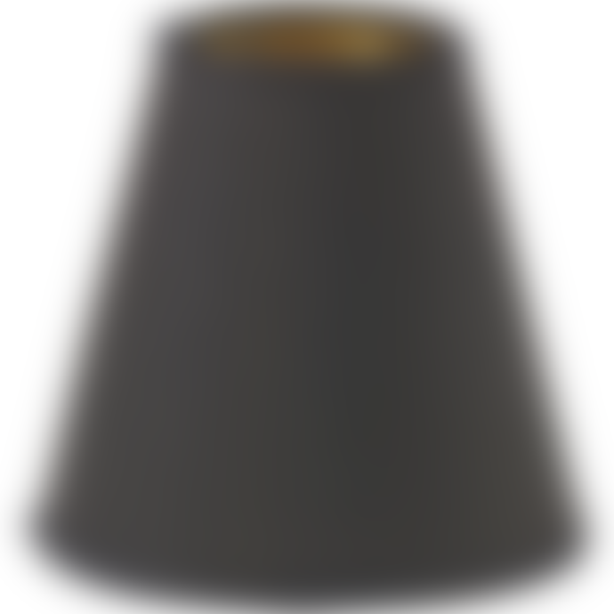 PR Home Lampshade Top Ring E14 Black/Gold