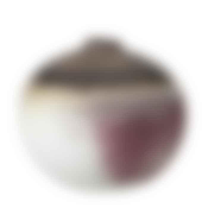 Bloomingville Round Umber Pink Cream Ilish Stoneware Vase
