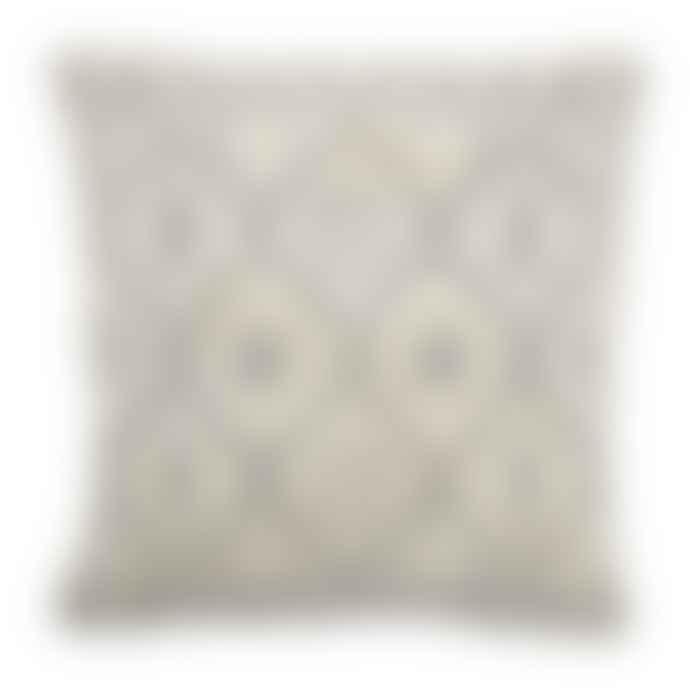 Bloomingville Cream Grey Nea Cotton Cushion
