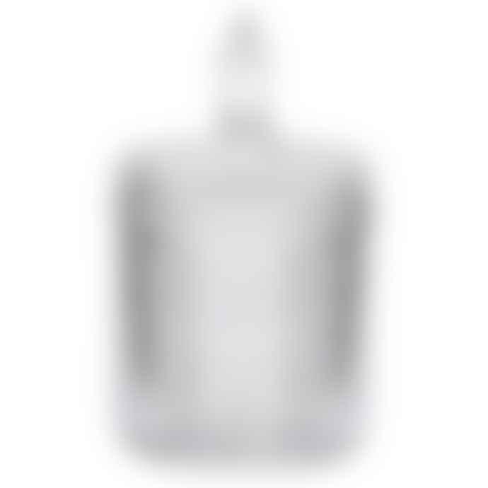livs Large Diamond Embossed Glass Jar With Lid