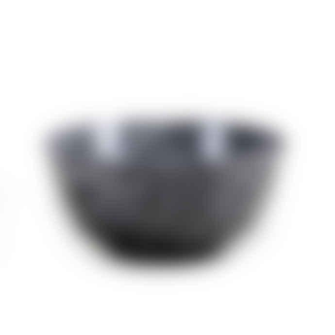 Faplana Melamine Bowl L Two-Color Black
