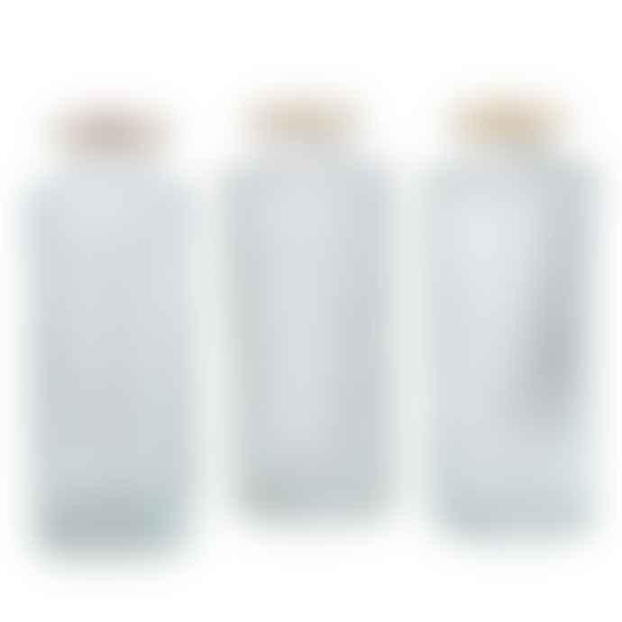 &Quirky Glass Bud Vase Straight, Diamond or Diagonal