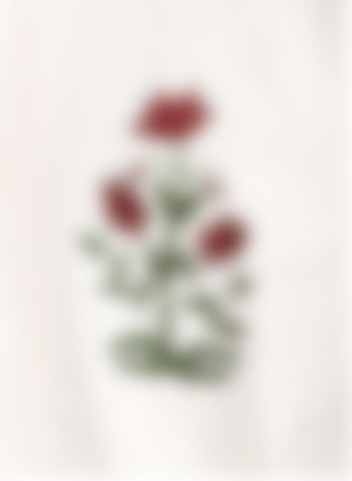 Kardo Cream Natural Chintan Emb 03 Regular Collar Boxy Fit Short Sleeve Shirt
