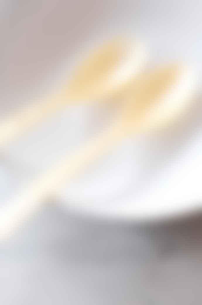 The Hambledon Salad Cutlery Set In Cream