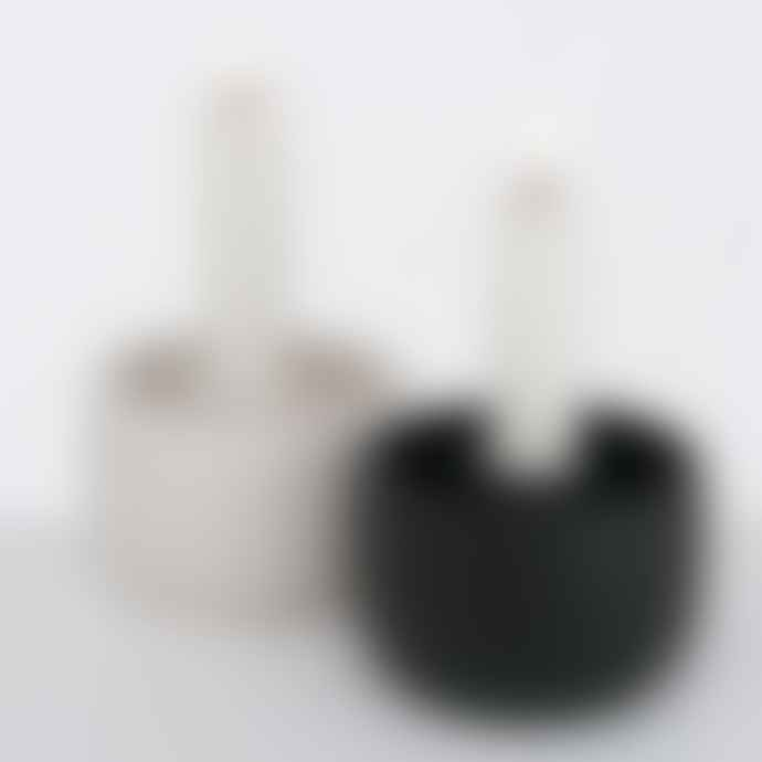 &Quirky Cloys Candle Holder Black or White