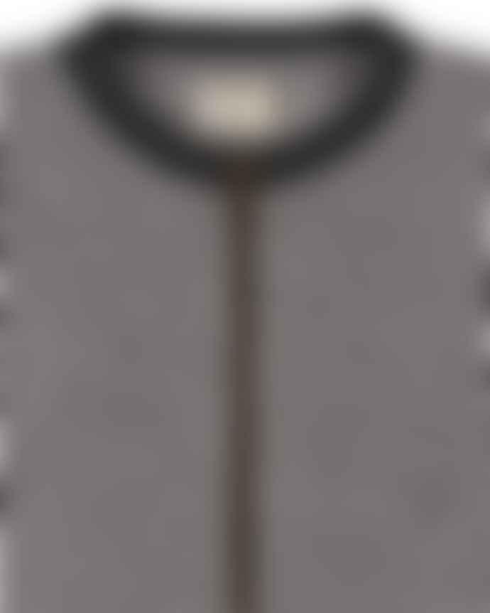Turtle Dove Grey Textured Jersey Bomber Jacket