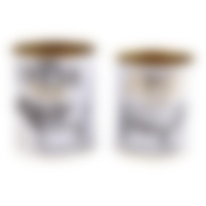 livs Set 2 Tin Storage Pots - Fresh Milk and Cream