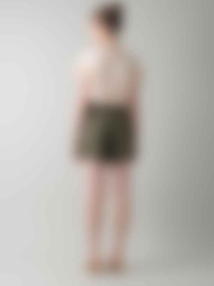 Indi & Cold Belted Shorts In Khaki