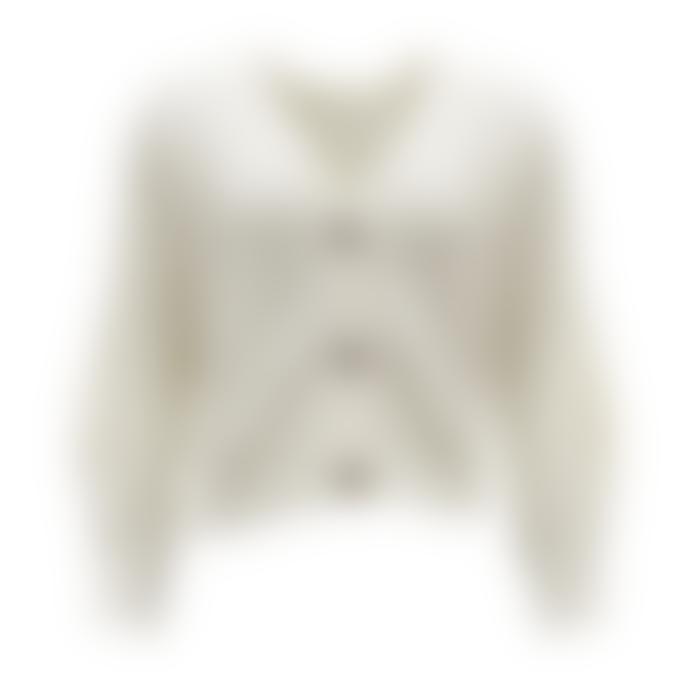 Orla Antwerp Short Buttoned Cardigan White