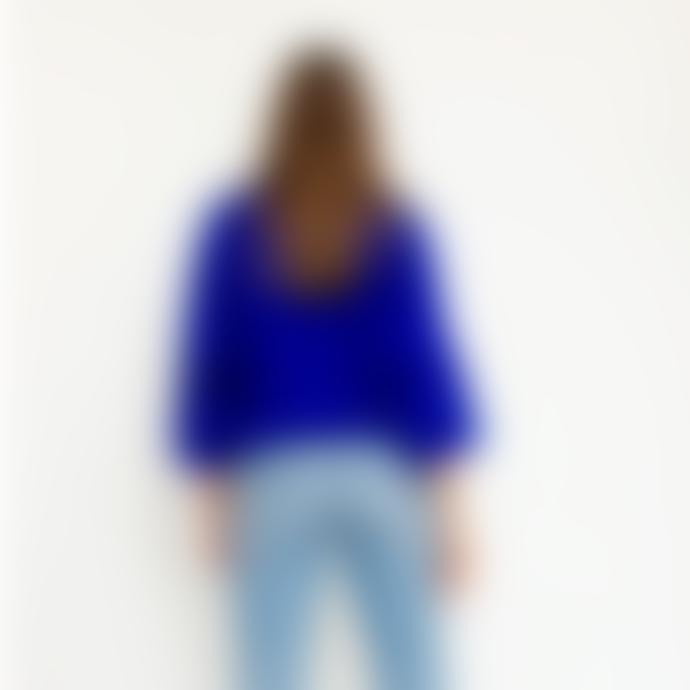 Orla Antwerp Short Buttoned Cardigan Cobalt