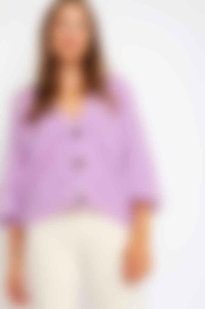 Orla Antwerp Short Buttoned Cardigan Lilac