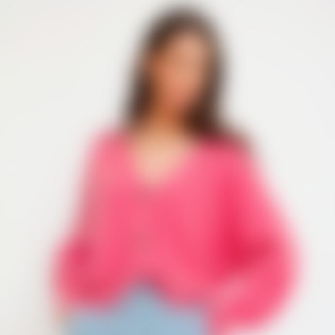 Orla Antwerp Short Buttoned Cardigan Dark Pink