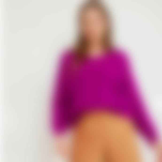 Sweet Like You V-Neck Sweater Purple
