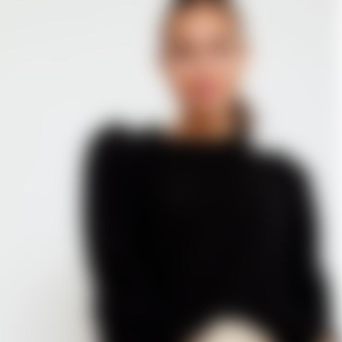 Sweet Like You Voluminous Shoulder Sweater Black