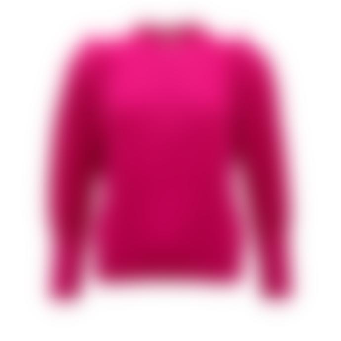 Sweet Like You Voluminous Shoulder Sweater Fuchsia