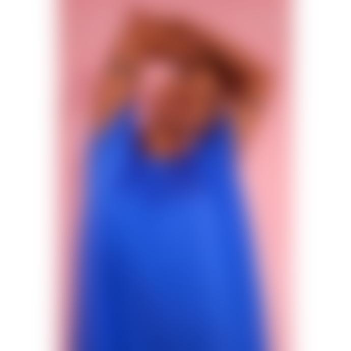 LF Markey Avery Silk Jumpsuit Cobalt