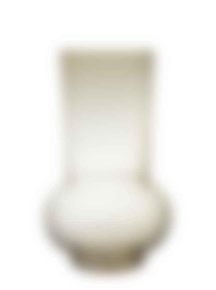 Wikholm Form Honey Yellow Round Fluted Vase Large