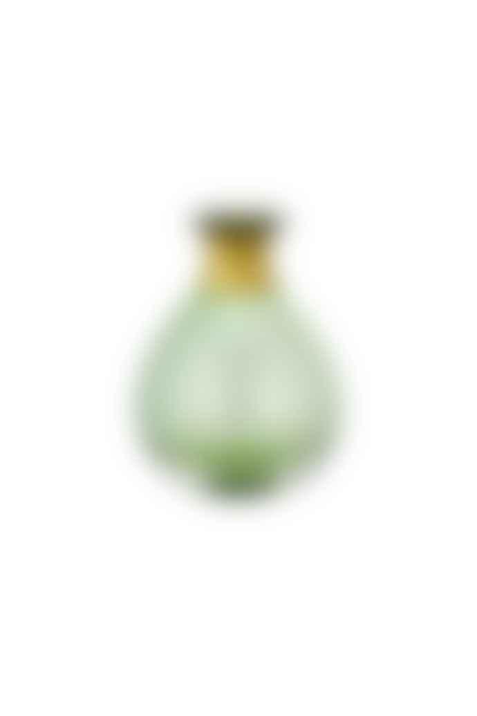 Nkuku Miza Mini Glass Vase In Green