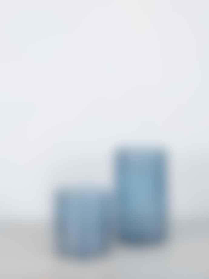 Wikholm Form Tall Mina Glass Bubble Lantern Blue