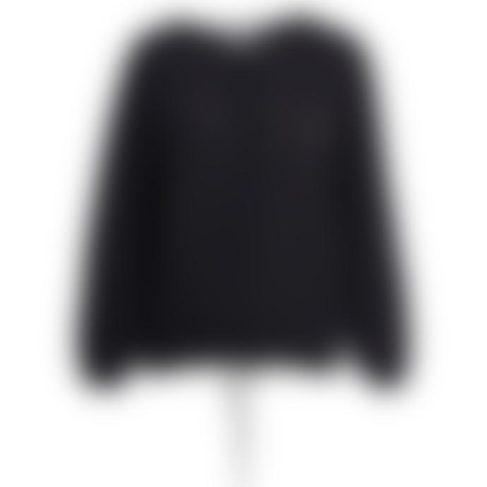 Essentiel Antwerp Zetting Cashmere Blend Cardigan in Black