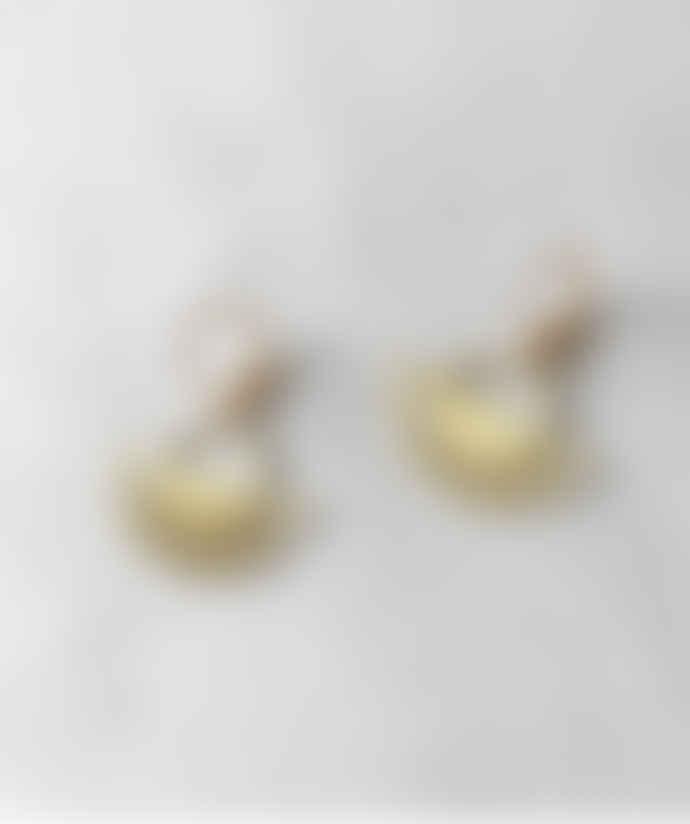 Dowse Brass Arco Earrings