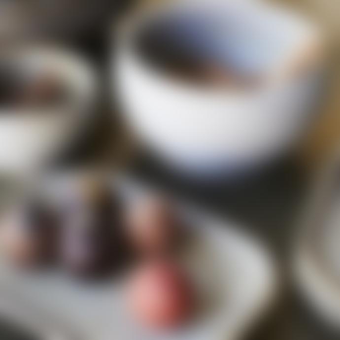 Madam Stoltz Medium Taupe Stoneware Platter