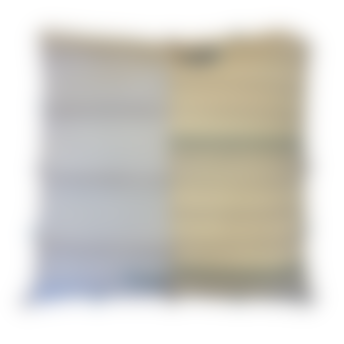 Calma House Tango Blue & Ecru Cushion with Tiny Tassels 60x60cm