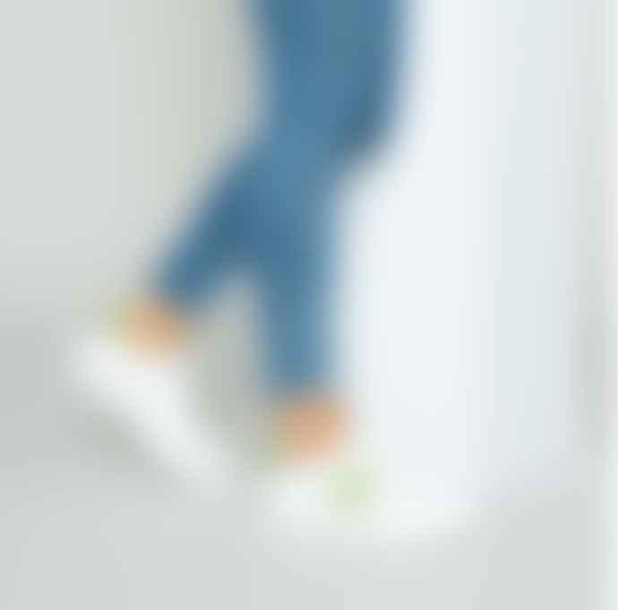 Philip Hog Emma Trainers In White Peridot