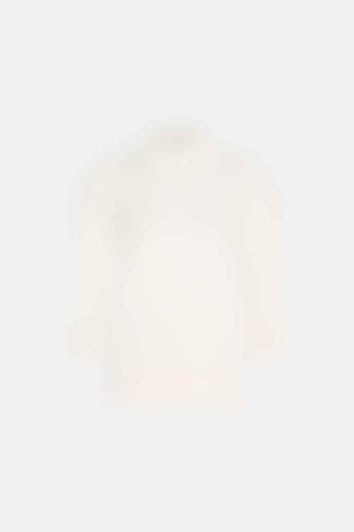 Fabienne Chapot Leo Pullover with Frill Detail in Cream/White