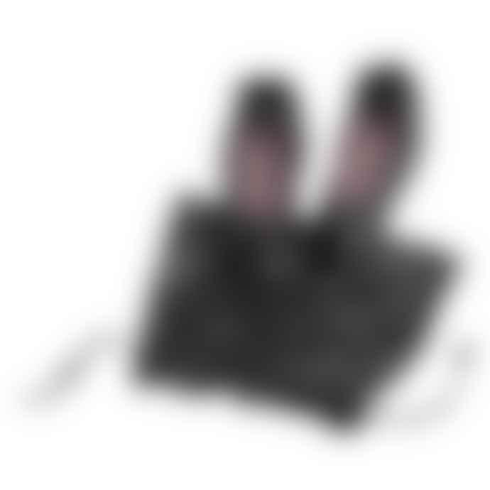 Pampuschen Black Grace Satin Ballerina Style Slippers