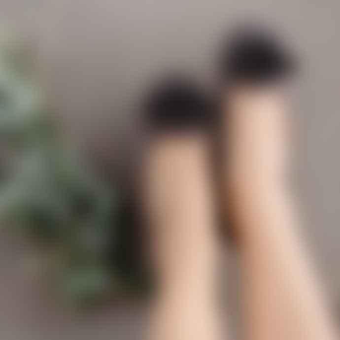 Pampuschen Taupe Grace Satin Ballerina Style Slippers