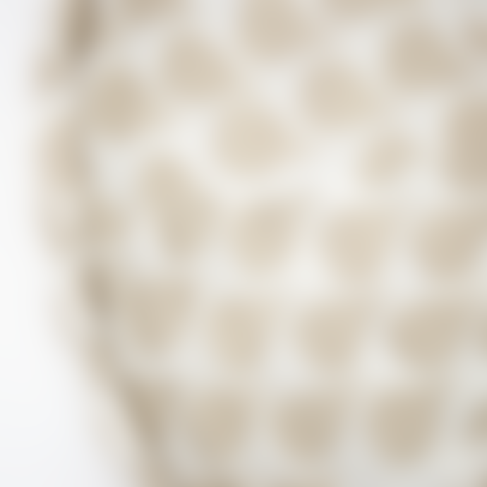 Afroart Warm Grey/White Meringue Oval Lampshade