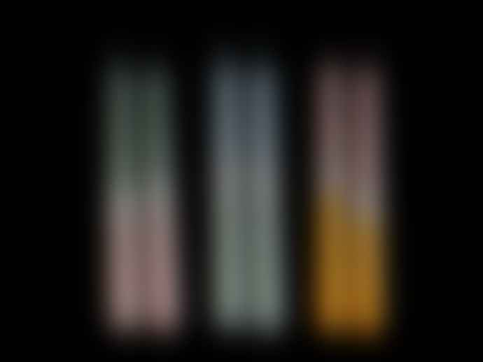 Schickeria Dip Dye Candles, Set of 4