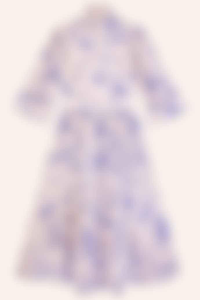 Meadows Clematis Toile De Jouy Dress